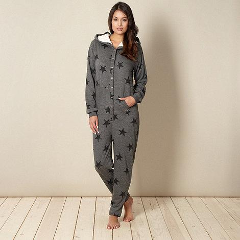 Iris & Edie - Grey star printed onesie