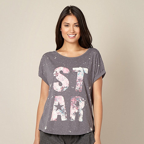 Iris & Edie - Designer  grey +Star+ pyjama top