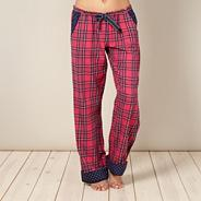 Online exclusive designer pink tartan check pyjama bottoms