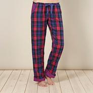 Designer purple check pyjama bottoms