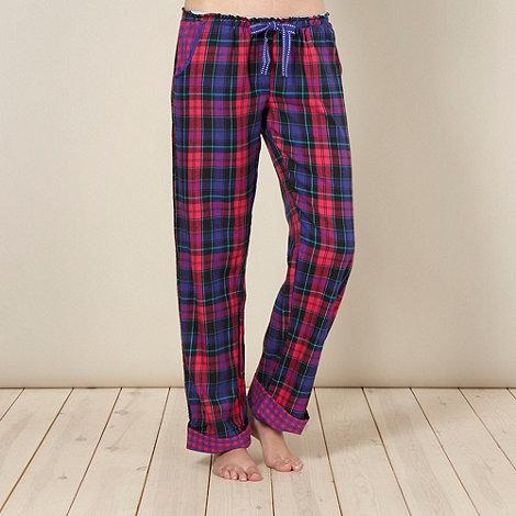 Iris & Edie - Designer purple check pyjama bottoms