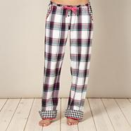 Designer cream woven checked pyjama bottoms