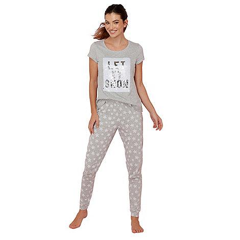Iris & Edie - Designer grey fairisle printed pyjamas