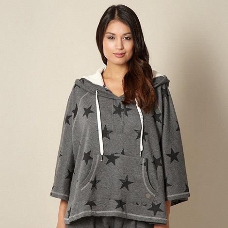 Iris & Edie - Designer grey star printed poncho