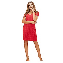 Lounge & Sleep - Red spot print short sleeves nightdress