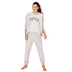 Lounge & Sleep - Grey star print pyjama set