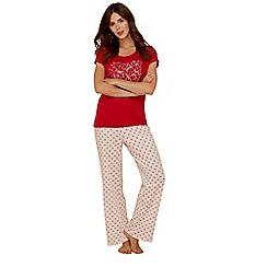 Lounge & Sleep - Red deer print pure cotton short sleeve pyjama set