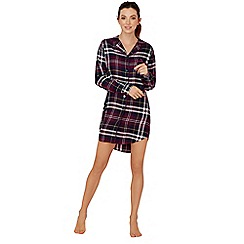 Lounge & Sleep - Purple check print nightshirt