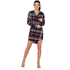 Lounge & Sleep - Purple check print nightshirt