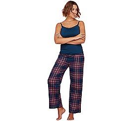 Gorgeous DD+ - Dark turquoise check print hidden support pyjama set