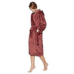 J by Jasper Conran - Dark red fleece dressing gown