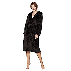 J by Jasper Conran - Black fleece dressing gown