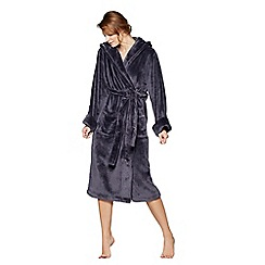 J by Jasper Conran - Dark grey fleece dressing gown