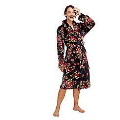 Lounge & Sleep - Navy floral print dressing gown