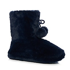 Lounge & Sleep - Navy slipper boots