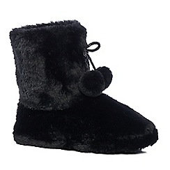 Lounge & Sleep - Black slipper boots