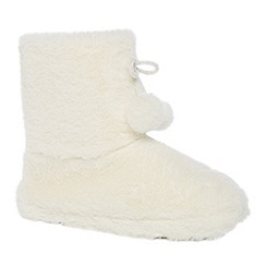 Lounge & Sleep - Cream slipper boots