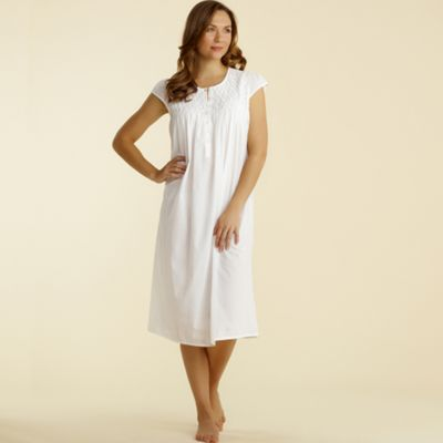 White Cap Sleeve Nightdress