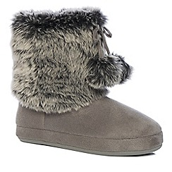 Lounge & Sleep - Grey slipper boots