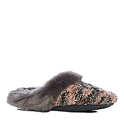 Lounge & Sleep - Pink space dye mule slippers