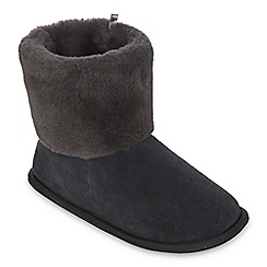 J by Jasper Conran - Grey suede slipper boots