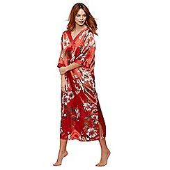 The Collection - Bright orange floral print satin 'Ariana' nightdress