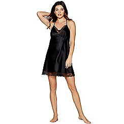 J by Jasper Conran - Black lace satin chemise