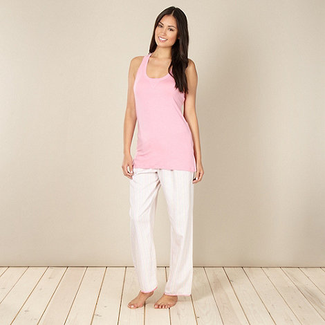 Cyberjammies - Pale pink striped pyjama set