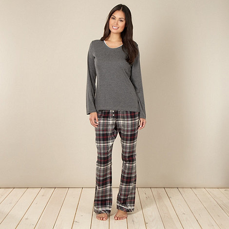 Cyberjammies - Dark grey checked pyjama set