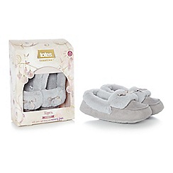 Totes - Grey suedette moccasin slippers