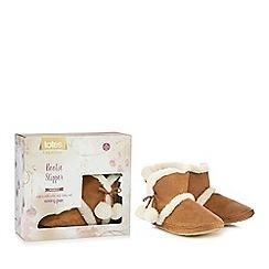Totes - Tan suedette memory foam slipper boots