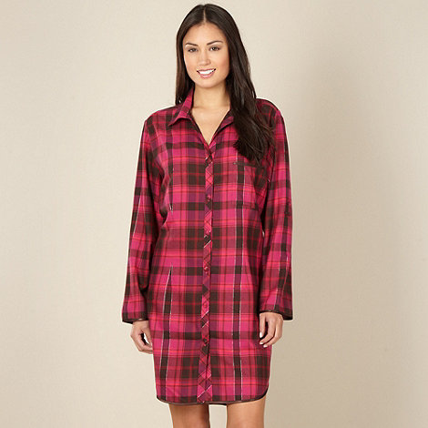 Cyberjammies - Online exclusive dark pink checked nightshirt