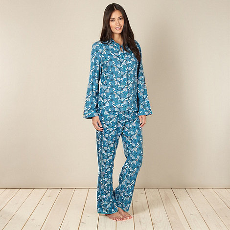 Cyberjammies - Turquoise reindeer pyjama set