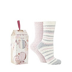Totes - Pack of 2 supersoft bed socks