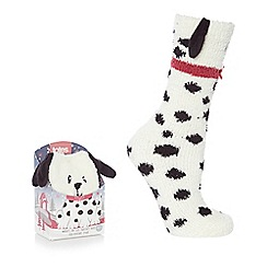 Totes - Cream supersoft novelty socks