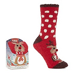 Totes - Red supersoft novelty socks
