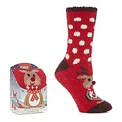 Totes - Red supersoft novelty socks