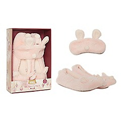Totes - Pink novelty slippers and eye mask