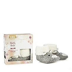 Totes - Grey novelty bear slipper boots
