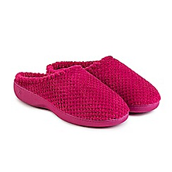 Totes - Pink isotoner popcorn mule slippers