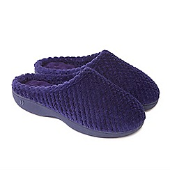 Totes - Blue isotoner popcorn mule slippers