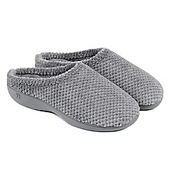 Totes - Grey isotoner popcorn mule slippers