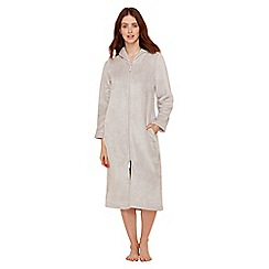 Lounge & Sleep - Grey fleece dressing gown