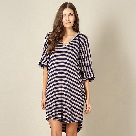 J by Jasper Conran - Designer beige stripe hood nightdress