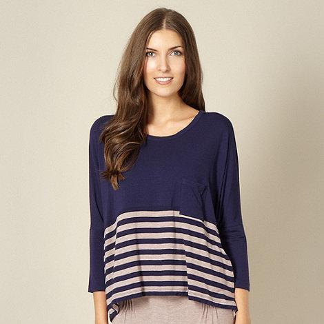 J by Jasper Conran - Designer navy stripe pyjama top