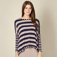Designer navy stripe pyjama top