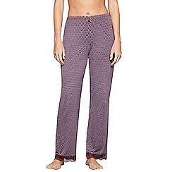 J by Jasper Conran - Purple geometric print 'City Chic' pyjama bottoms