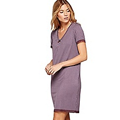 J by Jasper Conran - Purple geometric print 'City Chic' short sleeve nightdress