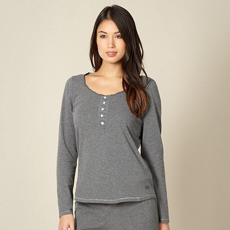 RJR.John Rocha - Designer grey jersey long sleeve pyjama top
