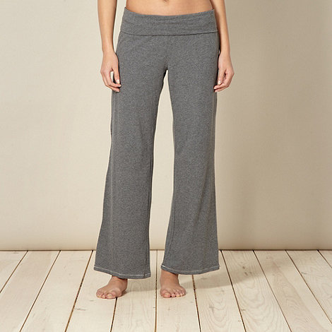 RJR.John Rocha - Designer grey jersey roll top pyjama bottoms